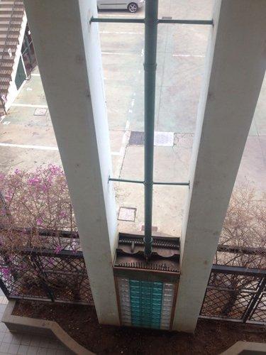 vista dall'alto edificio
