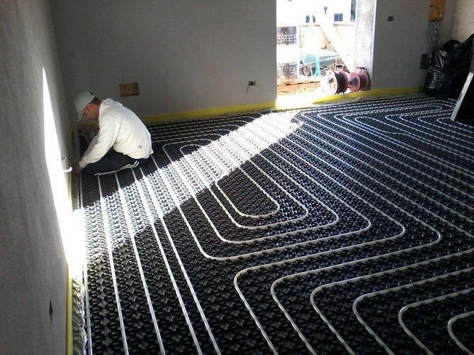 realizzazione impianto idraulico a pavimento
