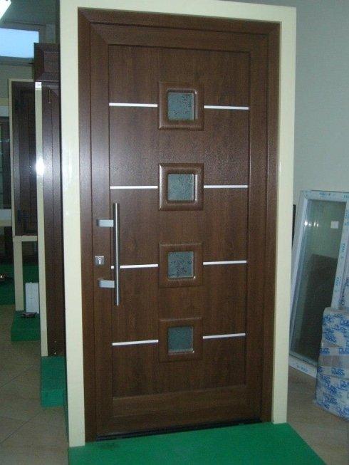 Portone esterno legno