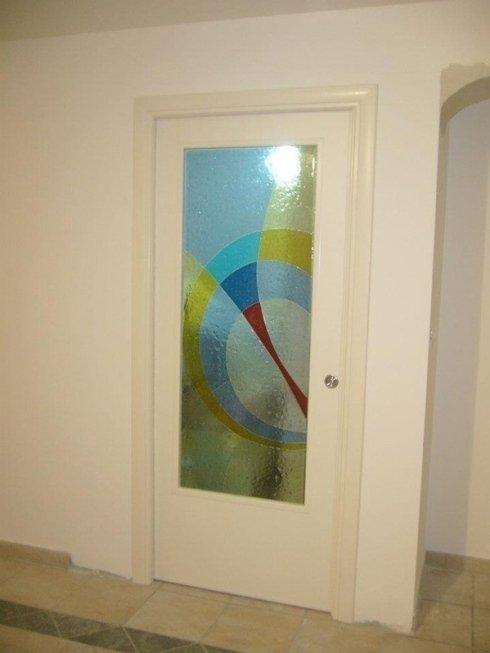Porta interna scorrimento mosaico