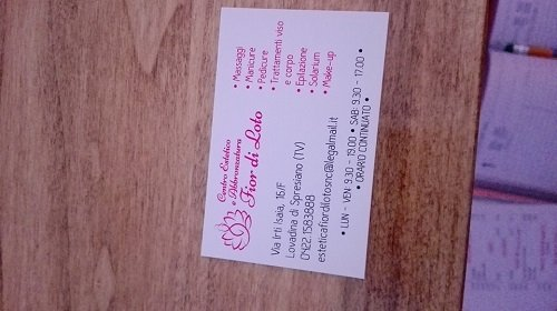 il biglietto da visita del centro estetico Fior di Loto