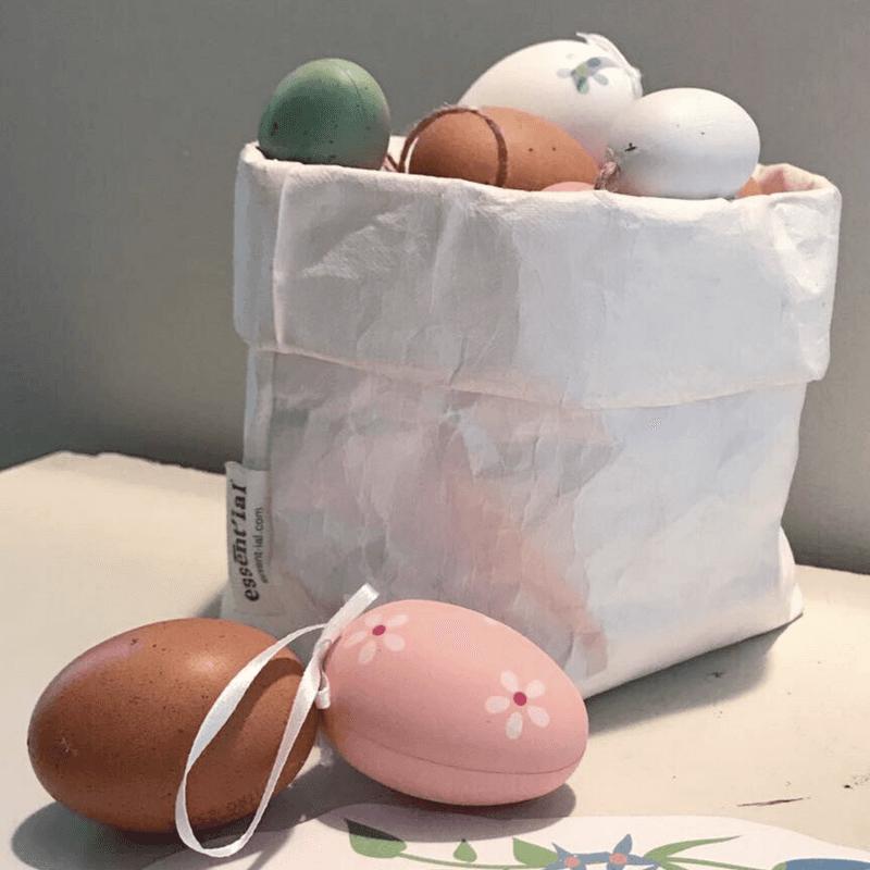 sacchi in fibra di cellulosa con uova
