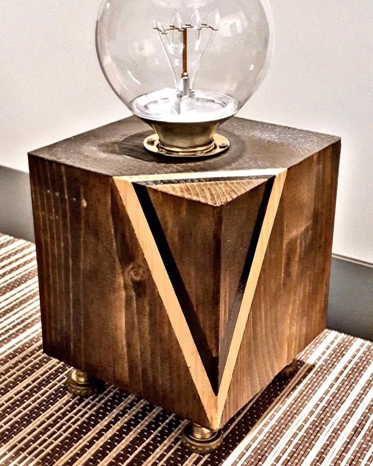 abat jour in legno