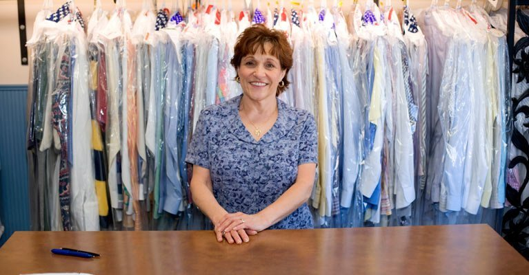 the butler dry cleaners experienced dry cleaner smiling