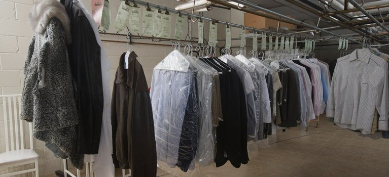 the butler dry cleaners cloths in hanger
