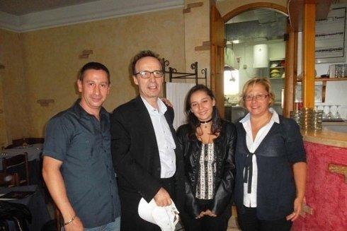 Lo staff con Roberto Benigni
