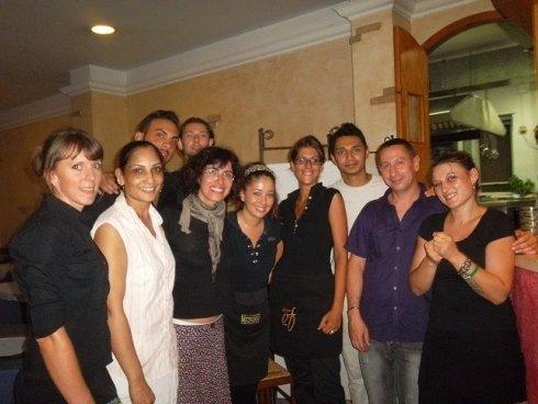 Lo staff e alcuni ospiti