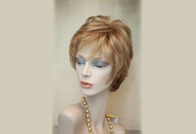 parrucca capelli castano corti