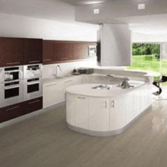cucina legno bianca
