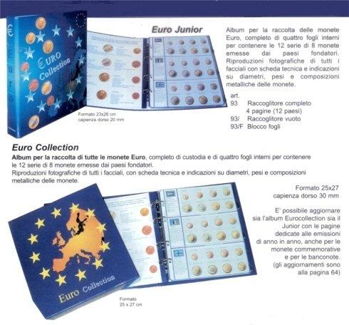 album raccolta monete euro