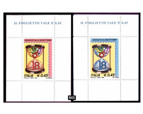 francobolli diciottenni