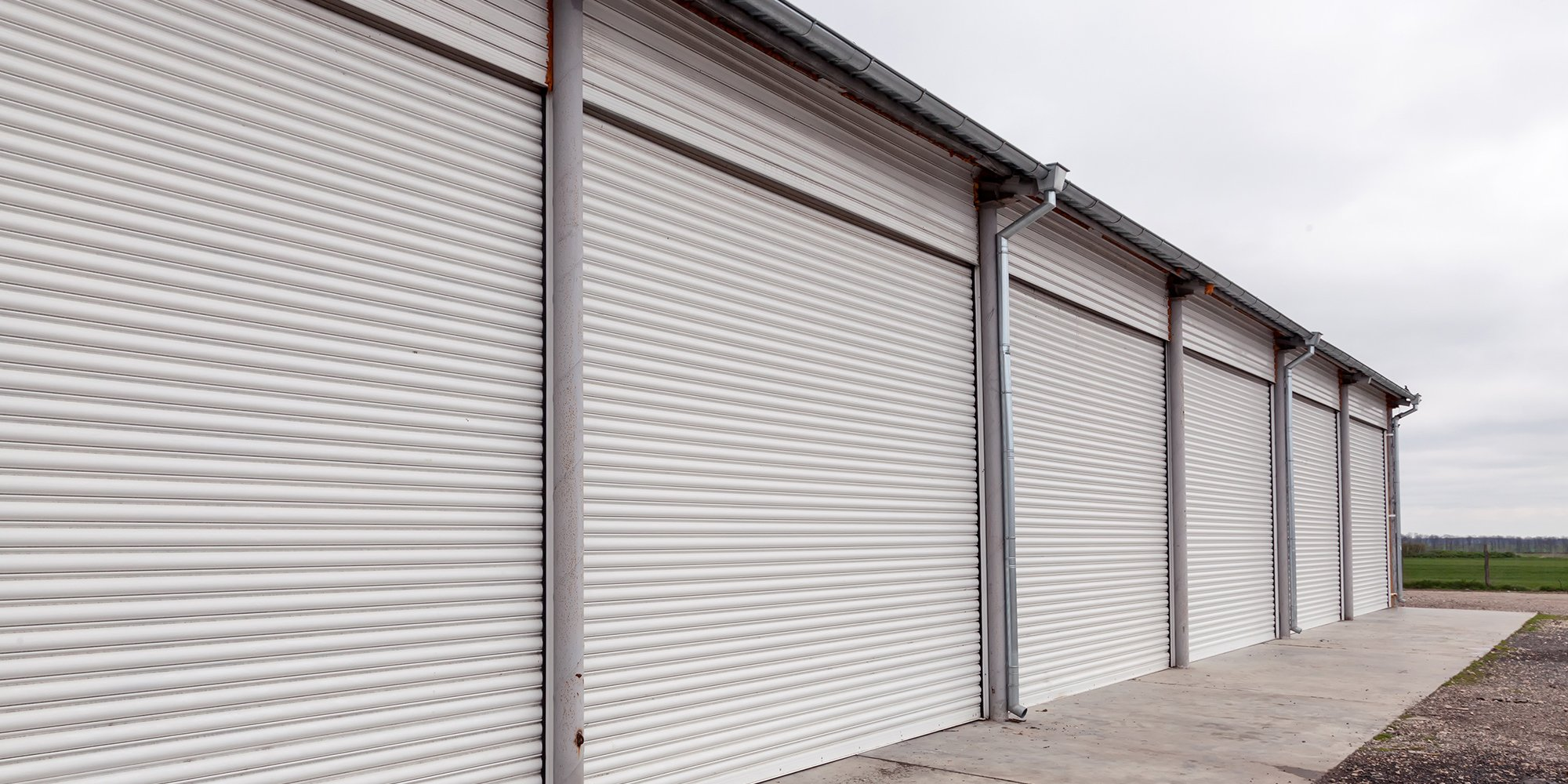 View of installed roller shutter by S&B Roller Shutters