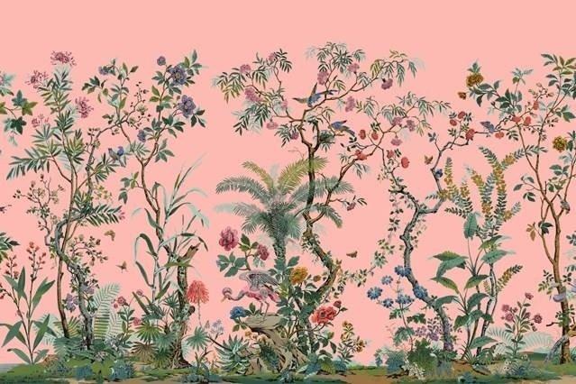 Parete con decoro floreale