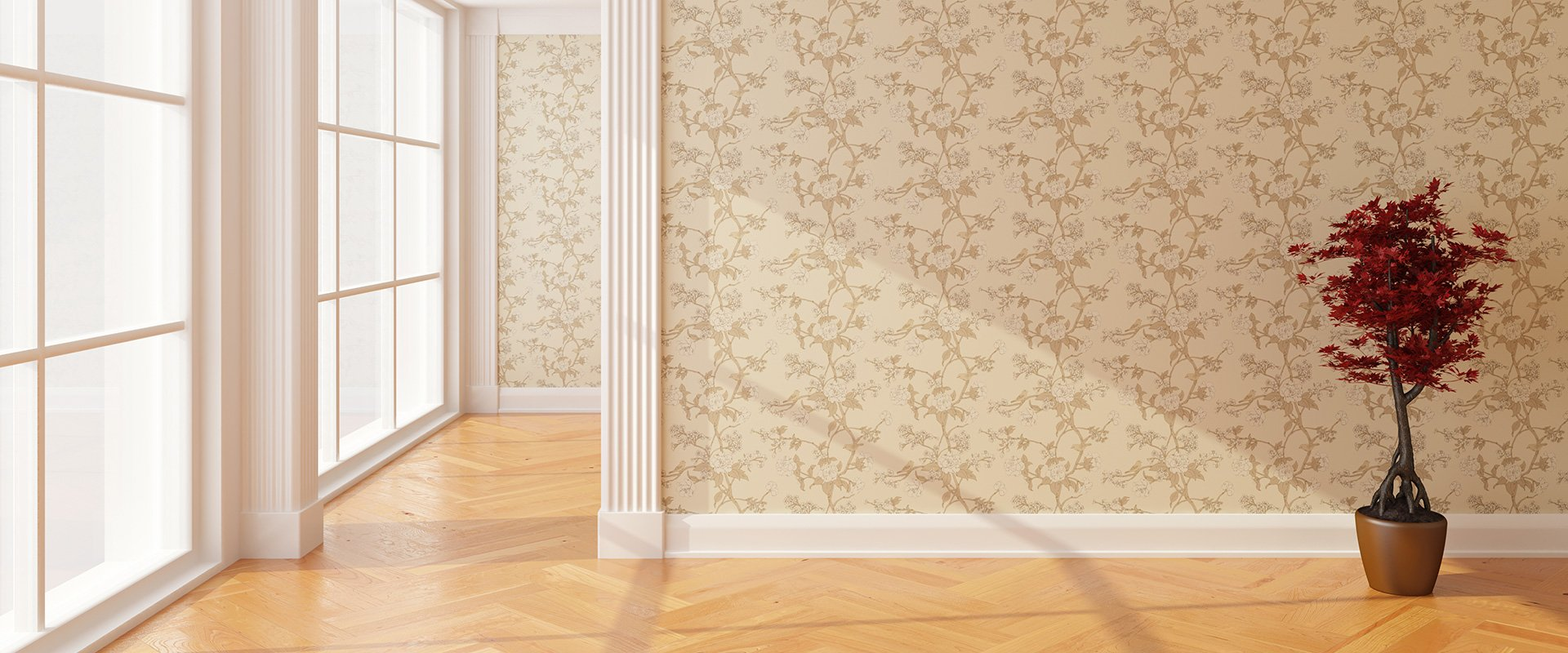 Professional wallpapering