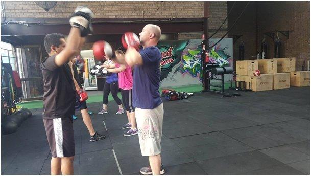 View of the fitness program in progress