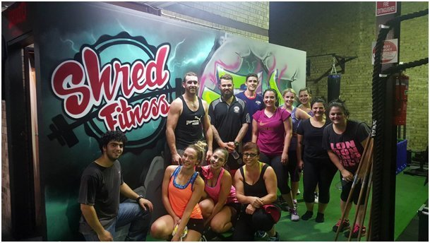Professional trainers from Shred Fitness