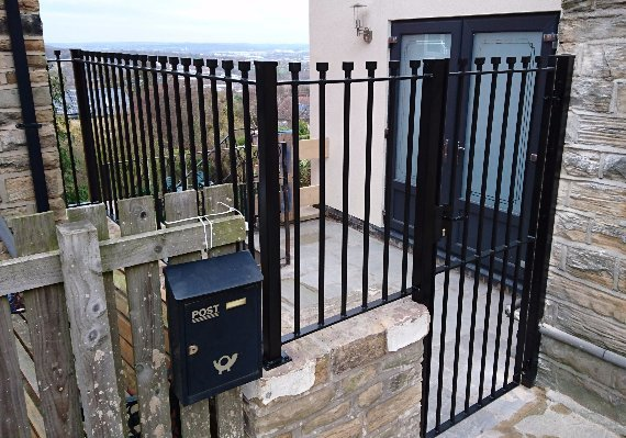 side wrought iron gate fabrication
