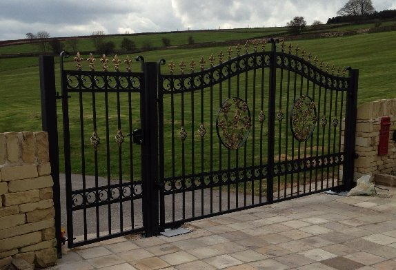 automated heavy duty bespoke wrought iron gates
