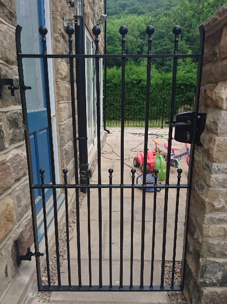 Galvanized garden gate heavy duty