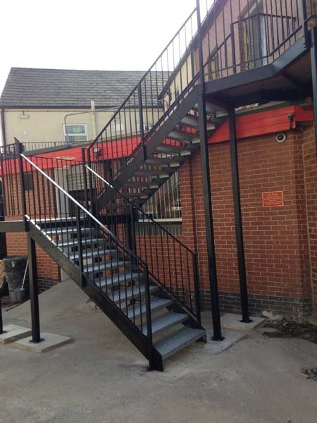 iron stairs