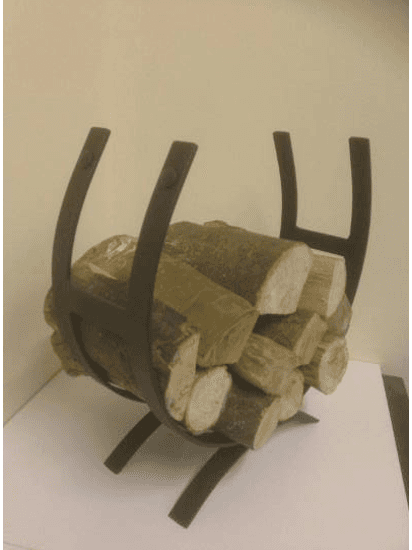 iron wooden log holder