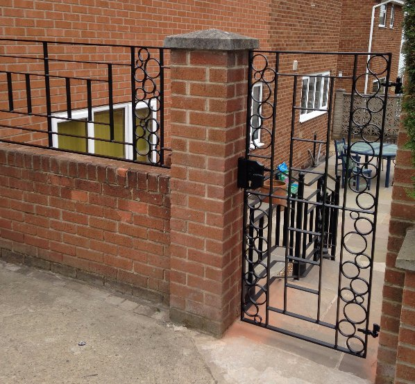 Unique bespoke entry steel gates