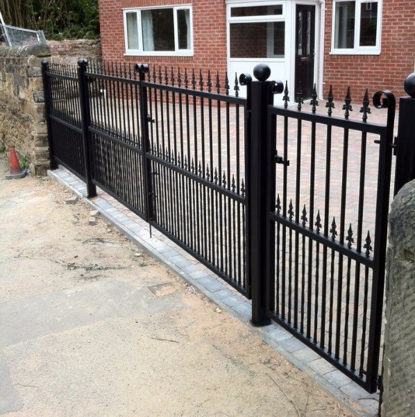 small square entry galvanised gate
