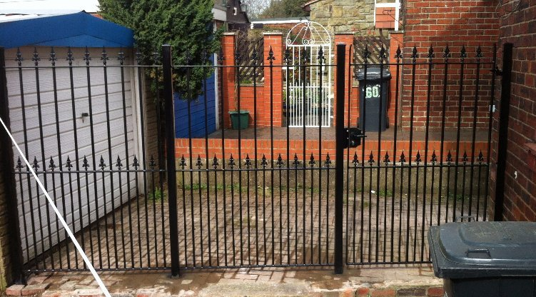 bespoke iron entry gate