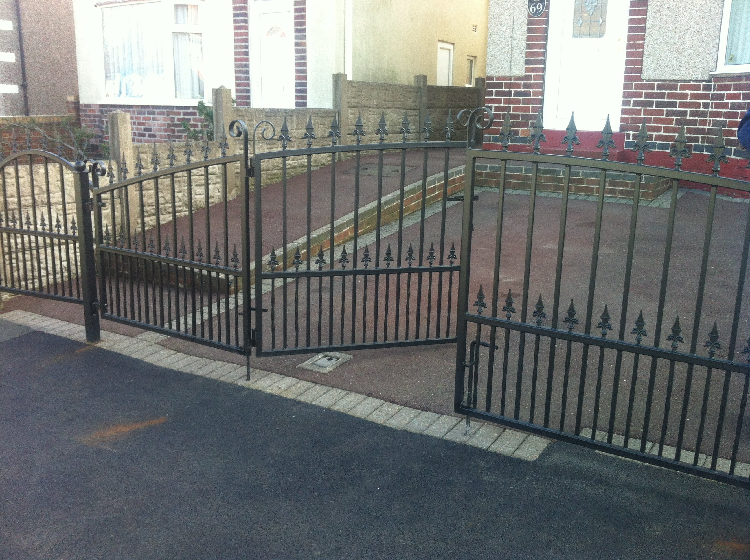 Beautiful Wrought Iron Garden Gates And Railing