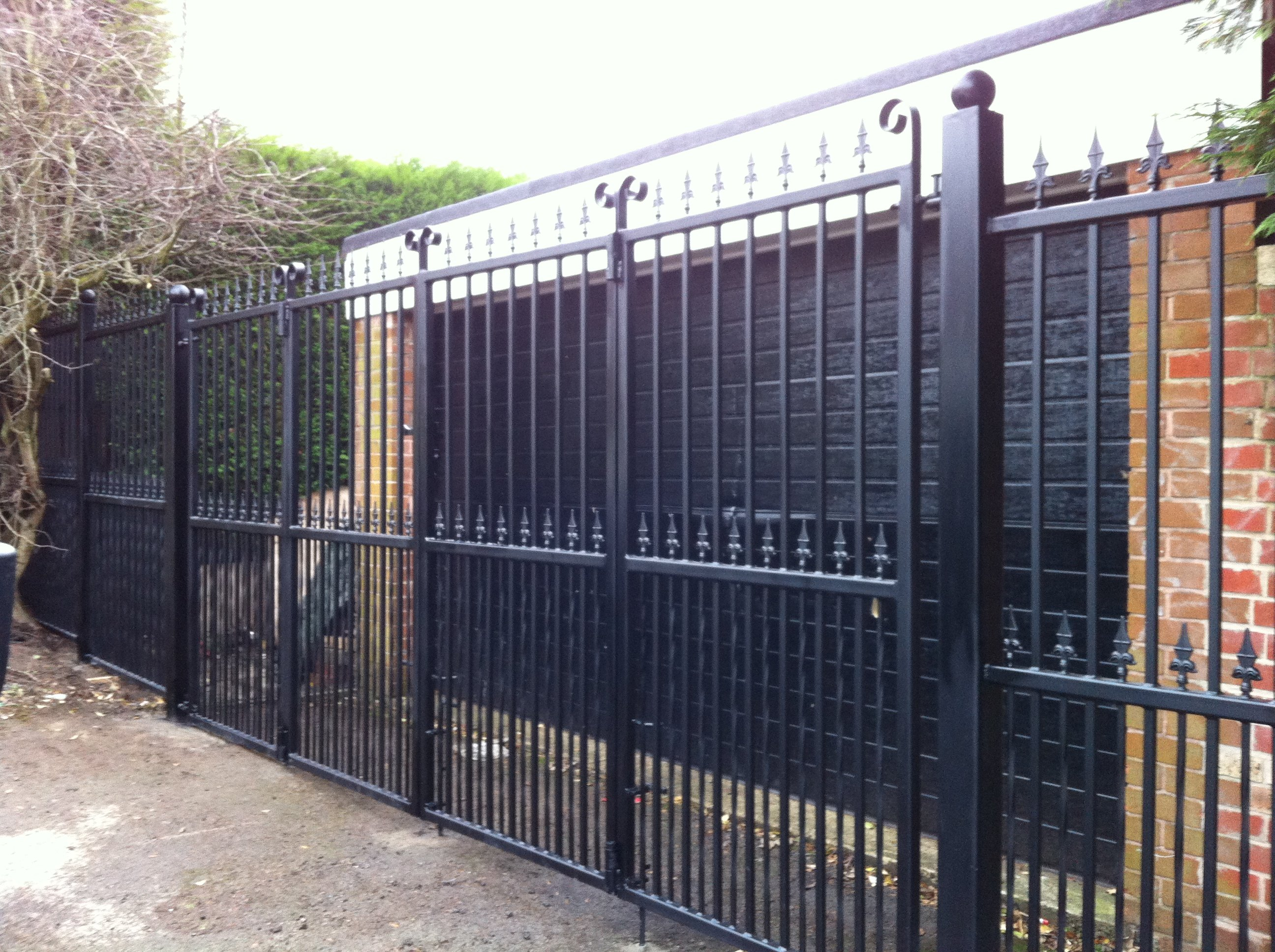 wrought iron bi folding gate dealers