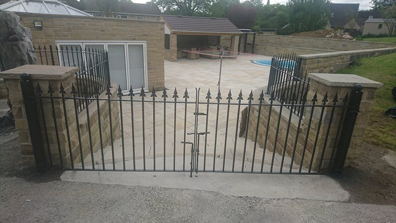 Safety Garden Gates galvanized