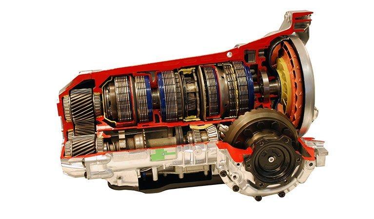 red-car-transmission-part