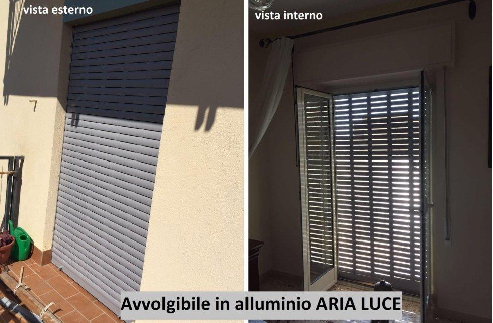 serranda in alluminio aria luce