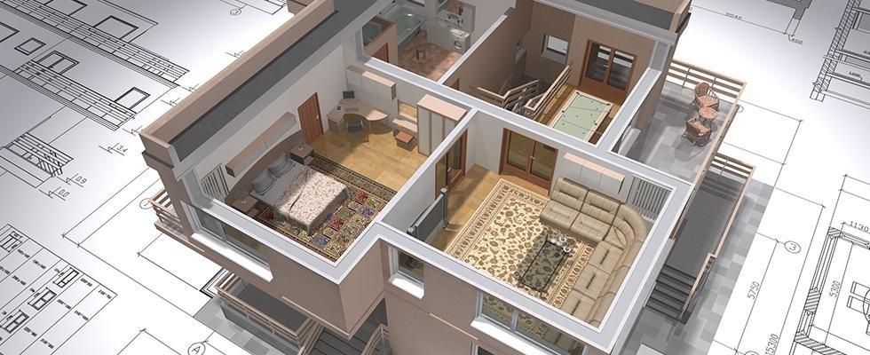 disegno in 3D di appartamento