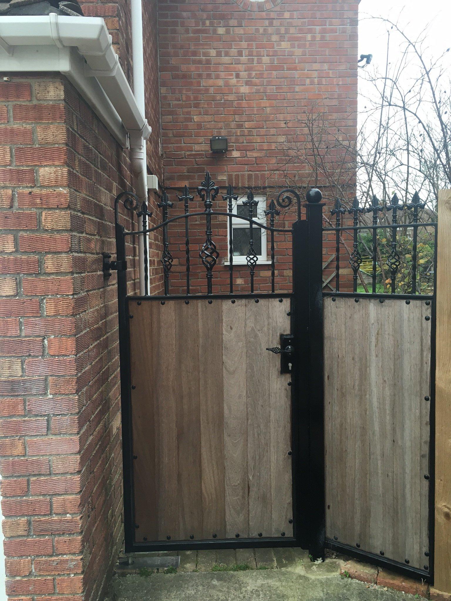 Beautiful timber infill gate