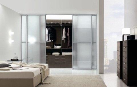 cabina armadio trasparente