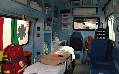 interno di un ambulanza