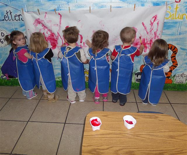 Children having fun at our day care center in Foley, AL