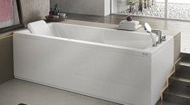 vasca da bagno con sistema air, vasche combinate con doccia, vasca con poggiatesta