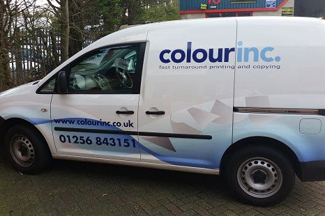 Colour Inc Ltd printing delivery van