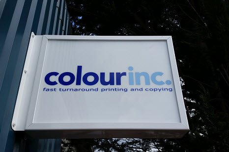 Colour Inc fast turnaround printing and copying signage