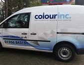 Printing delivery van