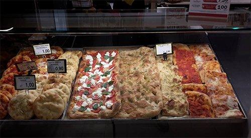pizza e crescente fresche