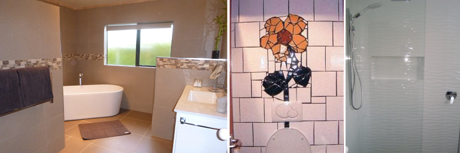 Wall tiles in a kitchen and bathroom located in Rotorua