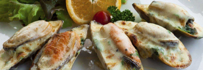 cozze gratinate con formaggio