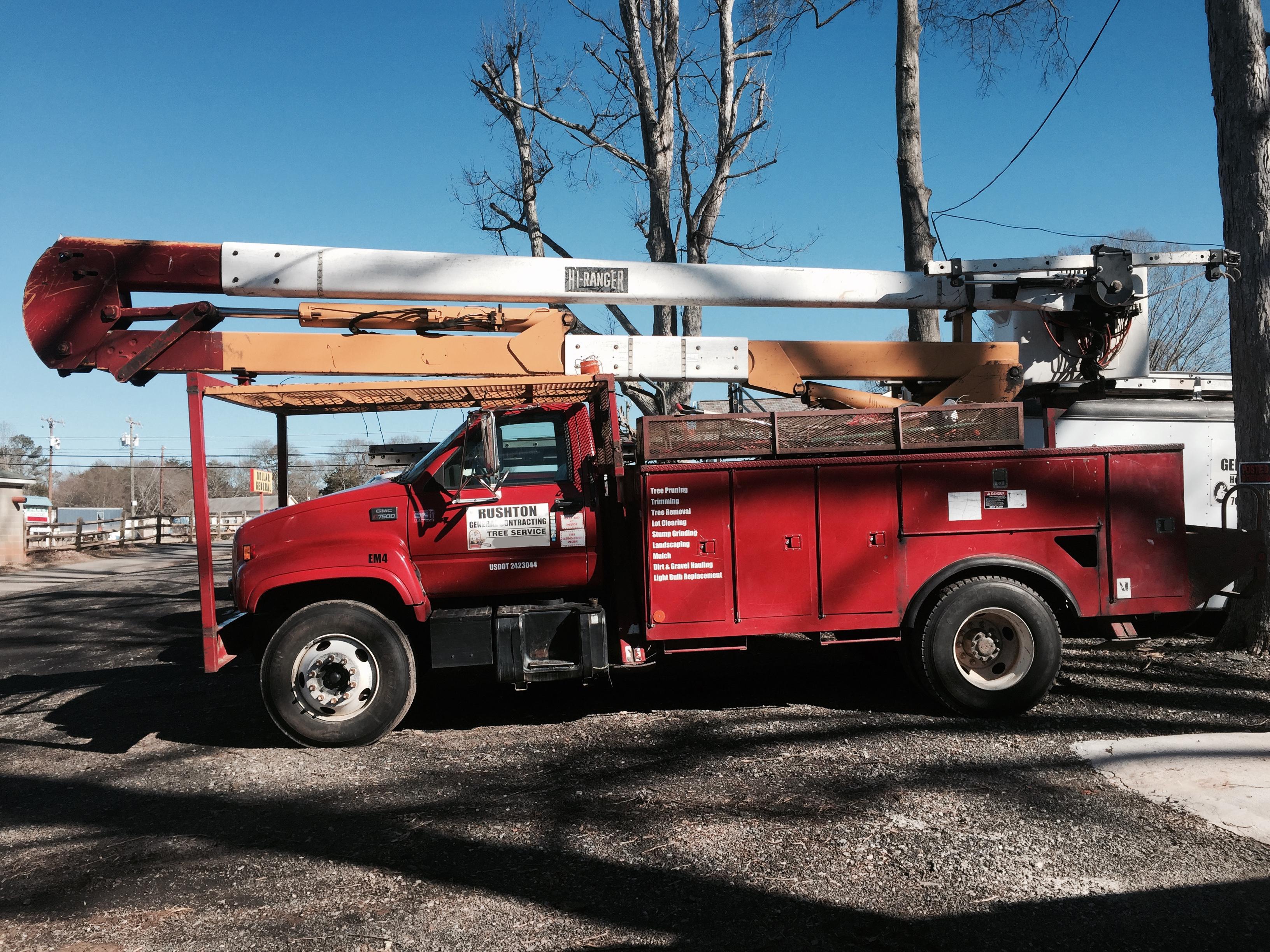 Tree Removal Company Truck, Gastonia NC
