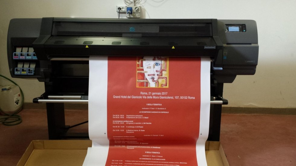 hp latex stampa Roll-Up