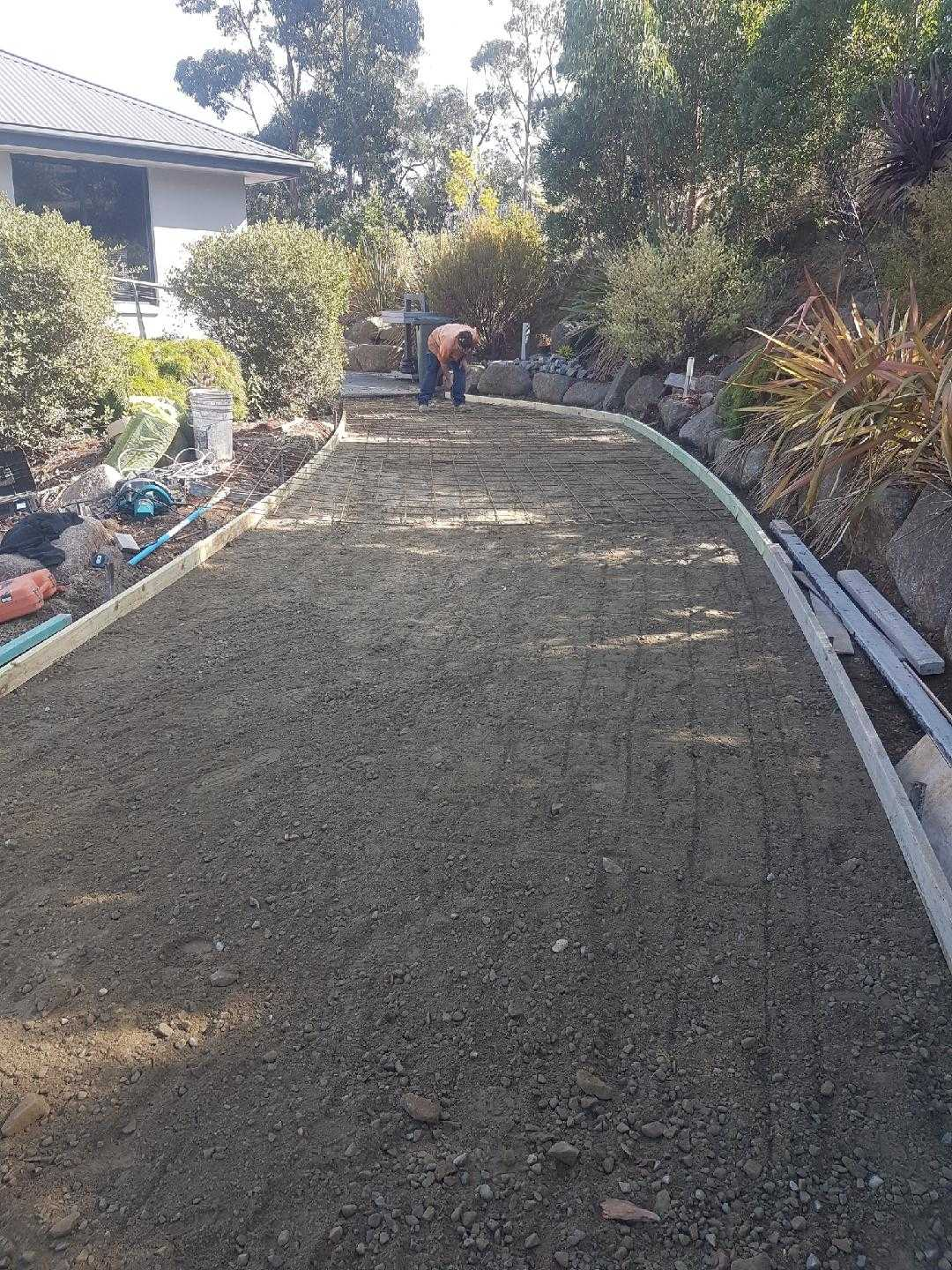 long dirt pathway ready for concrete