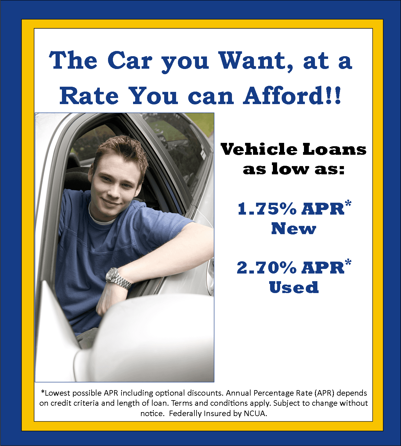 Low Rate Auto Loans