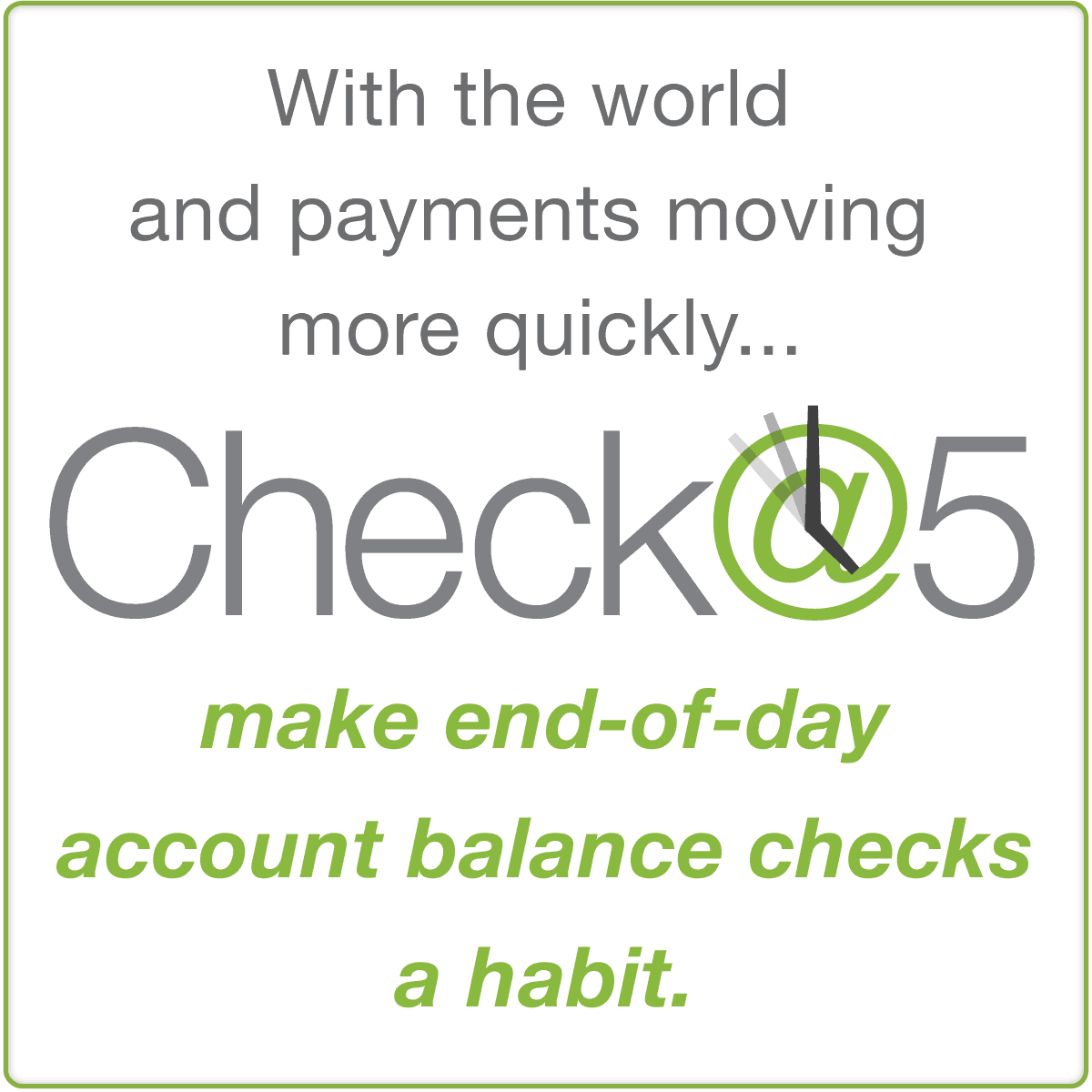 check at 5 credit union balance
